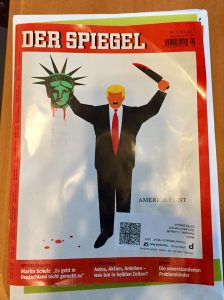 DER SPIEGEL titelt mit Donald Trump im IS-Stil
