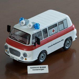 Der fertig gebaute Barkas B1000 als Krankenwagen